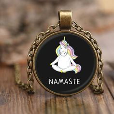 Namaste Necklace (25 AUD) ❤ liked on Polyvore featuring jewelry and necklaces