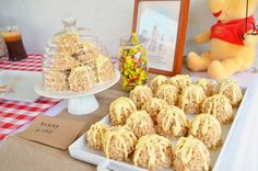 rice krispy treats beehives - Winnie The Pooh & Hundred Aker Woods party