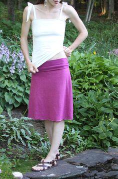 Organic Hemp and Cotton Fold Top Skirt by MtnLotus on Etsy, $65.00