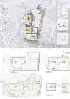 설계도판1 ©(주)공간종합건축사사무소 Architecture Site Plan, Architecture Panel, Architecture Visualization, Site Analysis Architecture, Architecture Portfolio, Concept Architecture, School Architecture, Architecture Graphics, Presentation Board Design