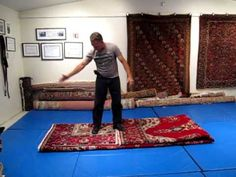 Fold a Large Rug for Transporting, Shipping or Storing