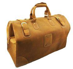 Men's Genuine Leather Large Capacity Travel Luggage Duffle Gym Bags Suitcase #coberlegend #DuffleGymBag