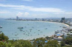 Viewpoint area of the famous Pattaya bay area from the viewpoint at the top of Khao Pratumnak - Pratumnak Hill. Pattaya, Bay Area, San Francisco Skyline, Childhood Memories, Attraction, Thailand, River, Activities, World