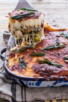 Simple Caramelized Butternut Squash and Kale Florentine Lasagna |halfbakedharvest.com @hbharvest