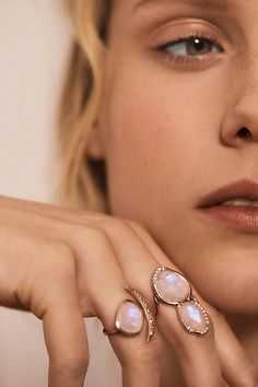 Slide View: 4: Moonstone Superstition Ring