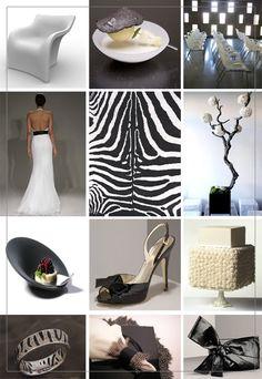 Black and white wedding with zebra print...my ideal wedding :)