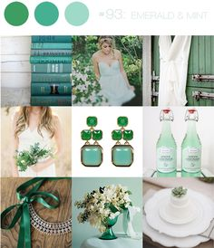 Emerald and mint green wedding inspiration Emerald Green Weddings, Wedding Mint Green, Aqua Wedding, Wedding Mandap, Quirky Wedding, Perfect Wedding, Orange Weddings, Wedding Receptions, Dream Wedding