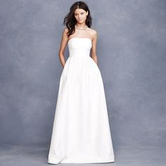 Lucinda ball gown- In love with the J Crew wedding line. Much too pricy for me, but I love these simple styles.