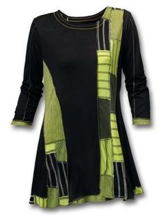 Twist of Lime Tunic - Southwest Indian Foundation Diy Clothing, Sewing Clothes, Clothing Patterns, How To Have Style, My Style, Altered Couture, Altering Clothes, Mode Inspiration, Diy Fashion