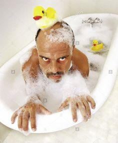 Stock Photo - Deranged man hangs on the edge of an old tub in bubble bath and rubber duck on his head Old Man Pictures, Stock Pictures, Stock Photos, Family Pictures, Pose Reference Photo, Art Reference, Reference Images, Funny Photos, Funny Images
