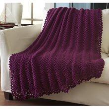 Caron� Vintage Lace Simply Soft Throw Crochet Afghan Kit