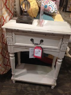 Ivory off white distressed nightstand from kirklands