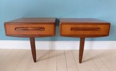 Retro 60s G Plan Bedside Tables & Headboard