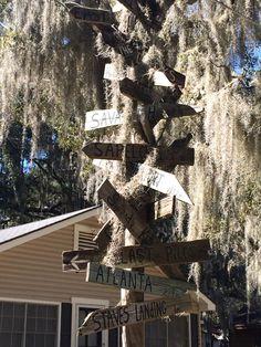 Shellman Bluff, GA - Janis's sign