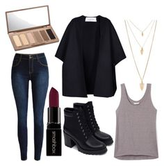 """""""Edgy Classic"""" by annekev on Polyvore featuring Rebecca Minkoff, Valentino, Zara, Forever 21, Smashbox and Urban Decay"""