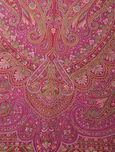 Kashmiri jamawar-style embroidery. Fuschia Georgette Hand Embroidered Saree by Ekaya - Buy Sarees > Embroidered Sarees > Fuschia Georgette Hand Embroidered Saree by Ekaya Online at Jaypore.com