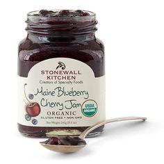 Stonewall Kitchen Organic Maine Blueberry Cherry Jam, 8.5 Ounce
