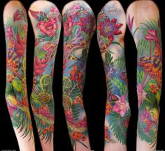 The Most Lush & Vivid Rainforest Tattoos EVER!! Wait till you see #12... | INKEDD