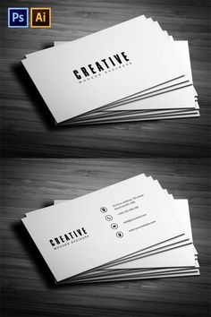 Minimal Business Card Carte De Visite Minimale Cartes Lgantes Conception