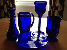 I proudly present my selfmade Bristol Blue Glass ... With a little help of Martin.  #bristolblueglass