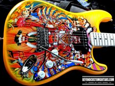An Axe as Bold as Love. Fender Stratocaster  Customwork by www.beyondcustomguitars.com