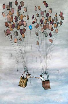 Trocando livros, trocamos conhecimento.