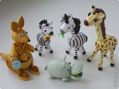 И снова мои любимые миниатюры.Увидела у Ольги Ивановой обитателей салфеточного леса и вспомнила,что видела некоторые такие игрушки у Sherry Rodehaver.Вот создала свой африканский мини-зоопарк. фото 1