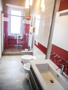 Ideas Bathroom Bathtub Ideas Sinks For 2019 Grey Bathroom Tiles, White Vanity Bathroom, Bathroom Bath, Bathroom Shower Curtains, Domaine Home, Modern Toilet, Brown Cabinets, Diy Countertops, Vintage Bathrooms