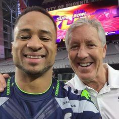 Earl Thomas III & Coach Carroll. SB49!