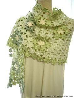 flower crochet shawl