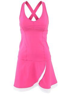 Nike Tennis Dress Large Women's Border Dri-Fit Sleeveless Black ...