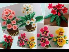 ถักดอกไม้ง่าย ๆ สวย ๆ - YouTube