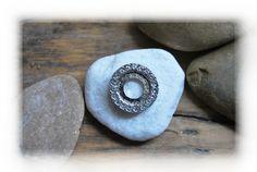 Rico Ring Aufsatz Metallscheibe silber Strass von DaiSign auf DaWanda.com