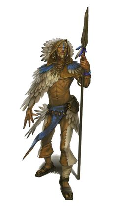 Male Human Shaman - Pathfinder PFRPG DND D&D d20 fantasy