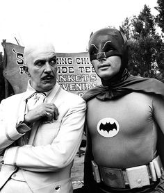 Vincent Price and Adam West. Egghead and Batman