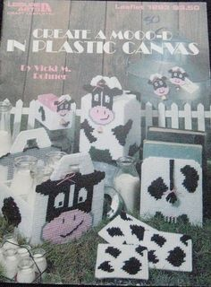 Plastic Canvas Cows Pattern Book Create A Mooo D by TheHowlingHag