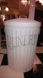 Re-purposed galvanized steel trash can Photo Gallery - Faded Velvet