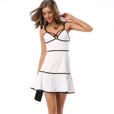 2017 Sexy Ruffle Dress Summer female Backless Halter White Mini Dress Black Color