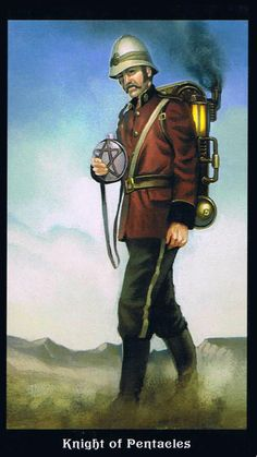 The Knight of Pentacles - Steampunk Tarot