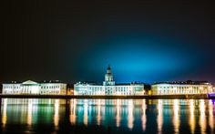petersburg, Leningrad, Peter, Russia, river, Neva, night, city