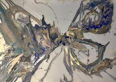 Михаил Новокщенный.Michael Novokshchennyy. Birth of gold.70-100 acrylic.polycarbon.2017.#MichaelNovokshchennyy#contemporaryart#modernart#modernpainting#painting#studio#