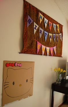 Pin the bow on the Kitty...fun game idea for a birthday party