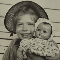 Carly Simon holding her doll. It's the same doll mom gave me to keep before she died............I forget her ID,  sweet memories make that so unimportant.