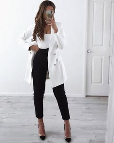 90 Sophisticated Work Attire and Office Outfits for Women to Look Stylish and Chic - Lifestyle State Classy Work Outfits, Cute Casual Outfits, Stylish Outfits, Casual Chic, Stylish Eve, Black Outfits, Amazing Outfits, Pink Outfits, Work Casual