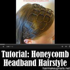 Honeycomb Headband Hairstyle Tutorial