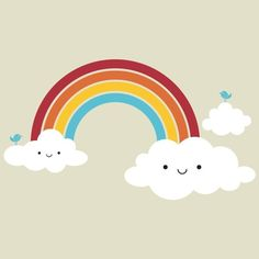 Super Kawaii Rainbow Wall Cling