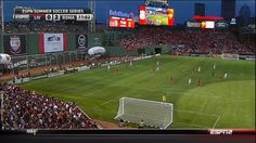 Fenway Park as a soccer field (Boston Red Sox, Liverpool)