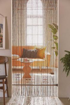 Shop Bamboo Beaded Curtain at Urban Outfitters today. We carry all the latest styles, colors and brands for you to choose from right here. - Would be nice in our bathroom in front of the shelves Beaded Curtains Doorway, Bamboo Beaded Curtains, Doorway Curtain, String Curtains, Diy Curtains, Bead Curtains For Doors, Patterned Curtains, Macrame Curtain, Window Curtains