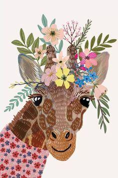 Animal Drawings, Art Drawings, Canvas Art Prints, Canvas Wall Art, Giraffe Art, Giraffes, Animal Print Wallpaper, Image Hd, Fine Art Paper