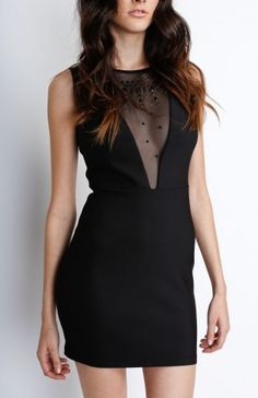 Black Dress With Faux Gems